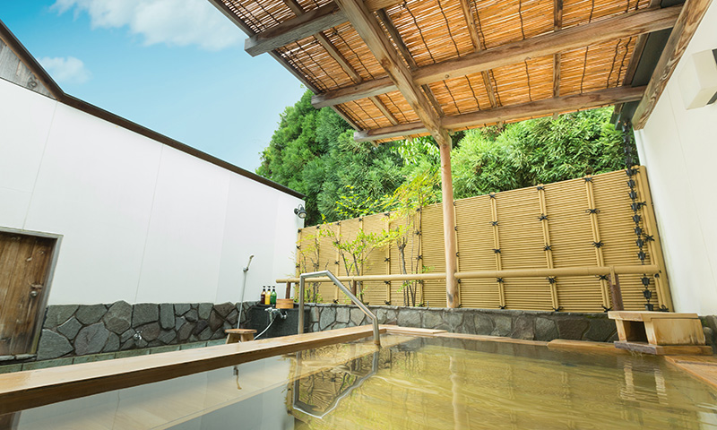 Open-air Onsen bath for men
